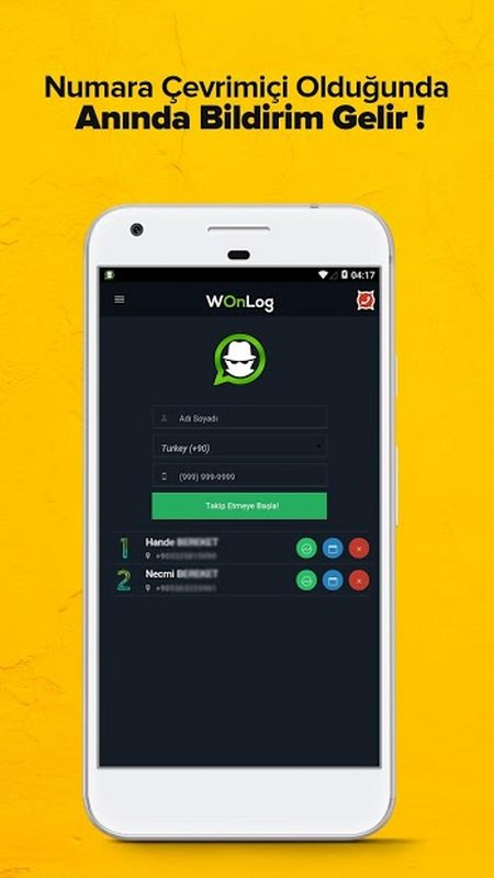 wTakip™ - WhatsApp Telefon Takip Programı