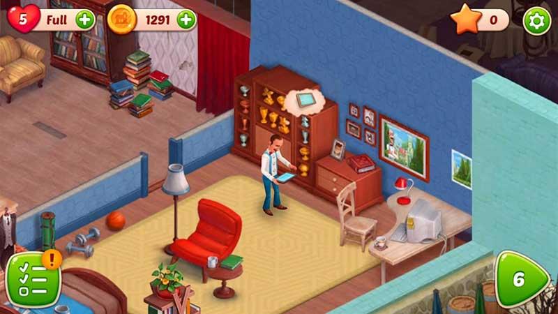 Candy Crush ve Sims Bir Arada Gibi Oyun – Homescapes