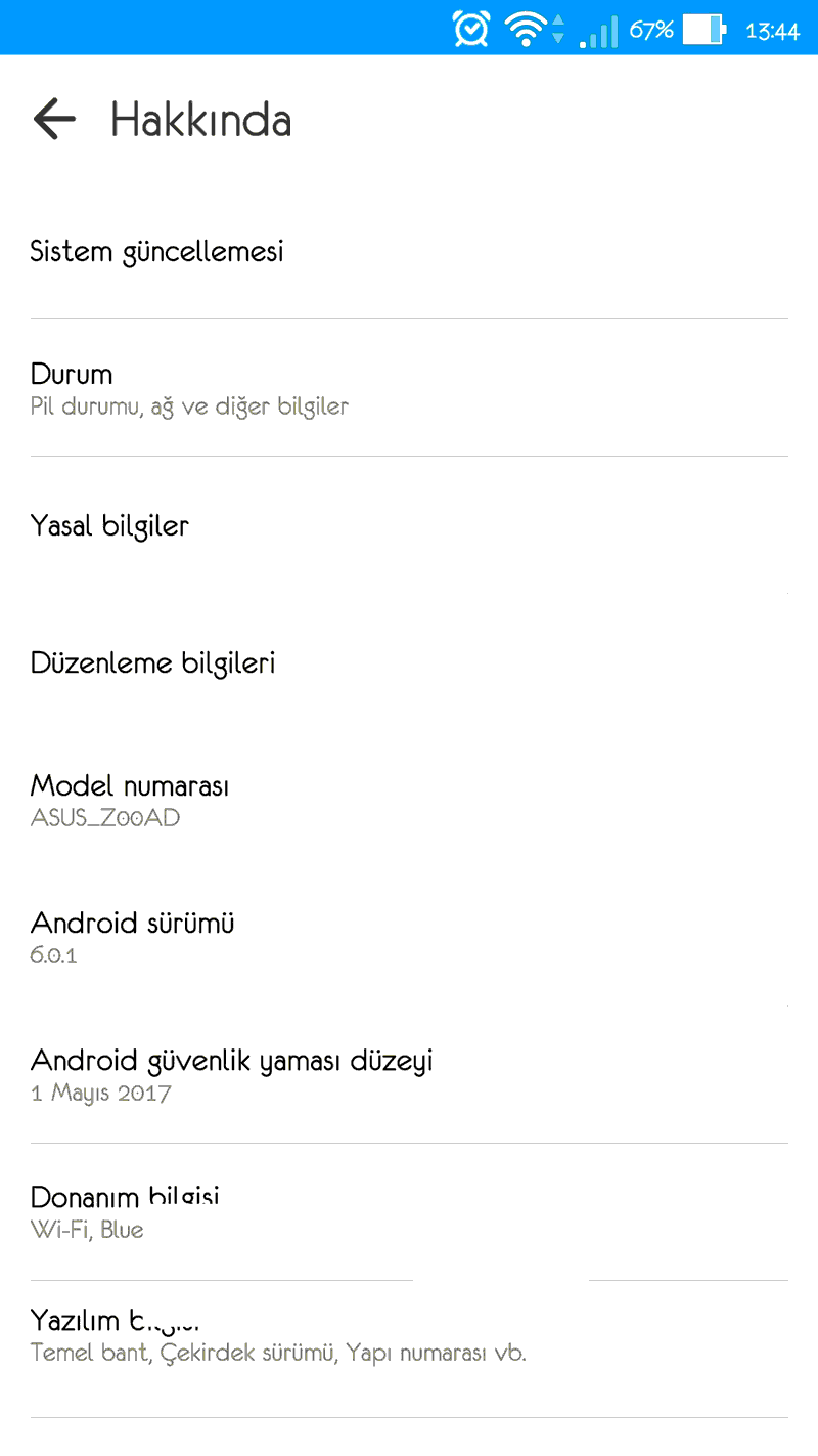 Android Geliştirici Seçeneklerini Açmak