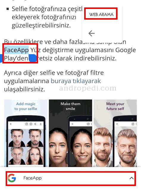 Chrome kolay kelime arama