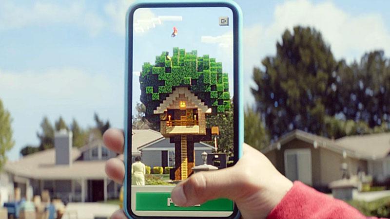 Gerçek Dünya'da Kamera ile Minecraft Oynayın